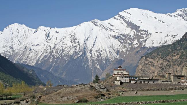 An old monastery in the shadow of the Annapurna Range in Nepal. Picture: Supplied