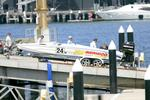 <p>Power boat accident on Sydney Harbour where Peter Eagle, father of world champion distance skier Lauryn Eagle, died in the accident. Pic. Jess Husband</p>