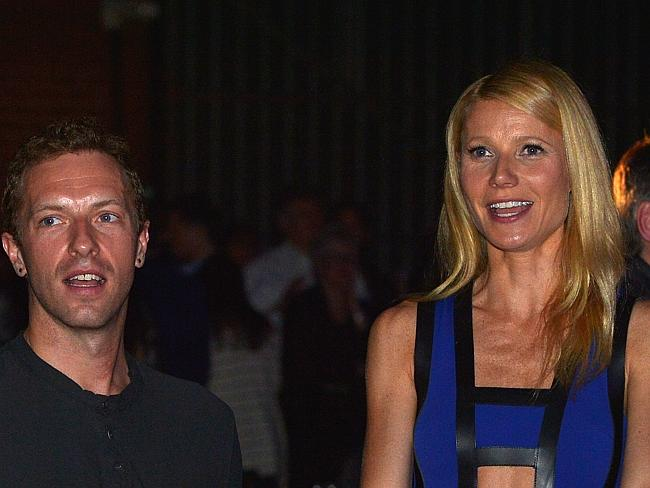 Martin and Paltrow were all smiles in January this year.
