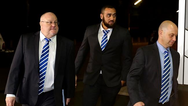 Greenberg with Alan Thompson at an NRL Judiciary for Bulldogs prop Sam Kasiano.