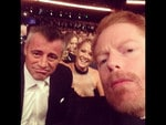 "Behind The Scenes Emmy Awards 2014... Actor Jesse Tyler Ferguson posts, ""Two handsome losers (and a pretty lady)."" Picture: Instagram"