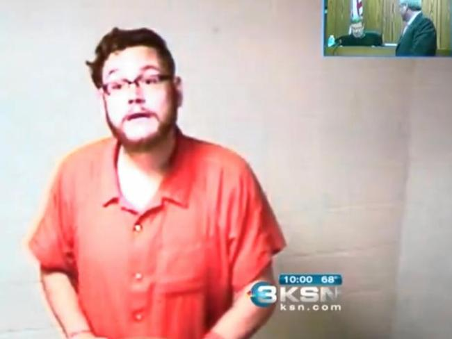 In court ... Seth Jackson has been arrested and charged. Picture: KSN.com