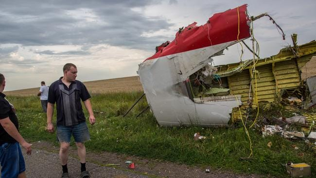 Tragic ... The crash site of MH17 outside Shakhtyorsk, Ukraine's Donetsk region. Picture: Andrey Stenin/RIA Novosti