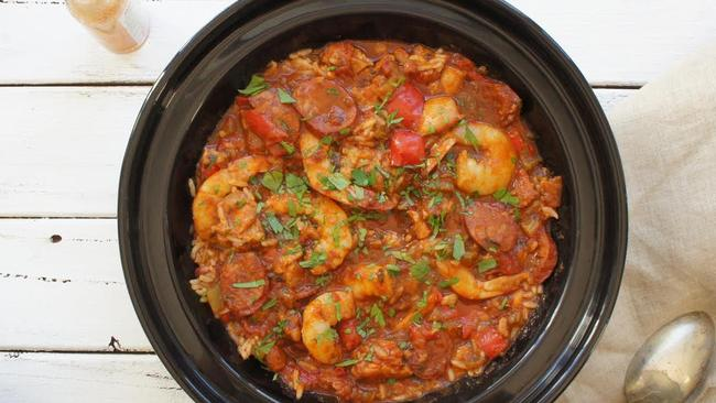 Serve this jambalaya family-style and let everyone tuck in. Credit: bestrecipes.com.au