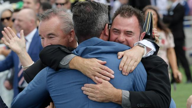 Owners of Mercurial Lad coudn't hide their delight at Randwick on Saturday.