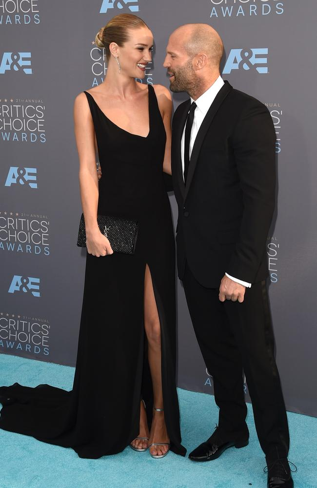 Rosie Huntington-Whiteley and Jason Statham attend the 21st Annual Critics' Choice Awards on January 17, 2016 in California. Picture: AFP