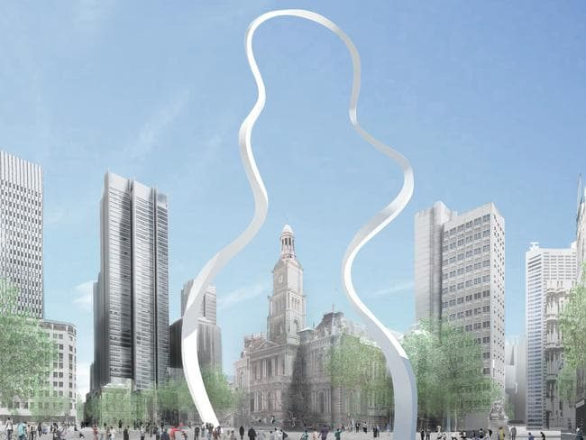 An artist's impression of the new George St sculpture,  <i>Cloud Arch</i>.