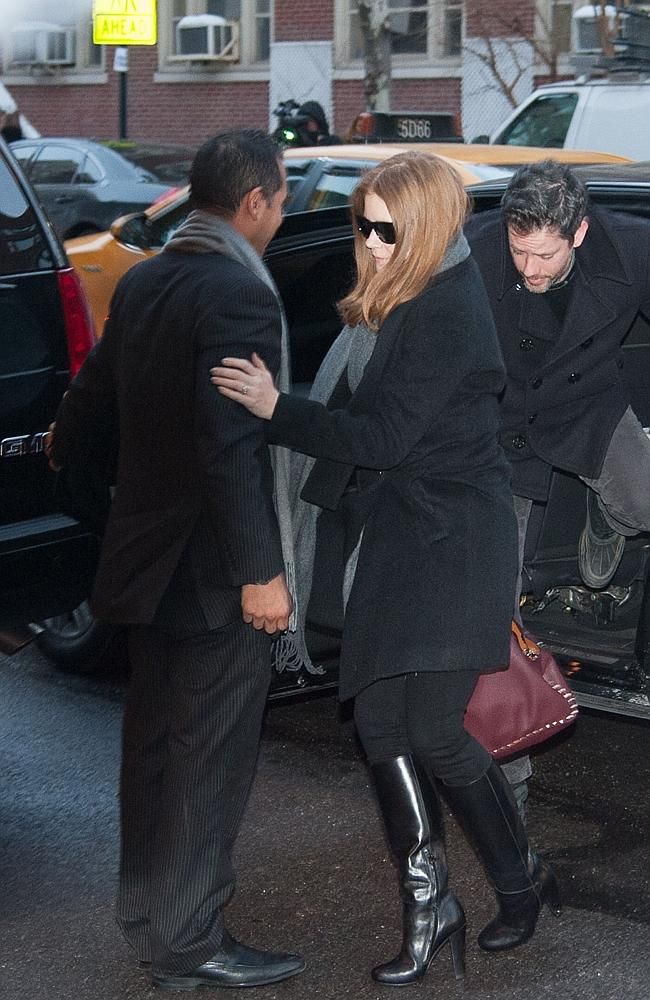 Amy Adams attends the wake for actor Philip Seymour Hoffman. Valentino then publicised the fact she'd carried on...