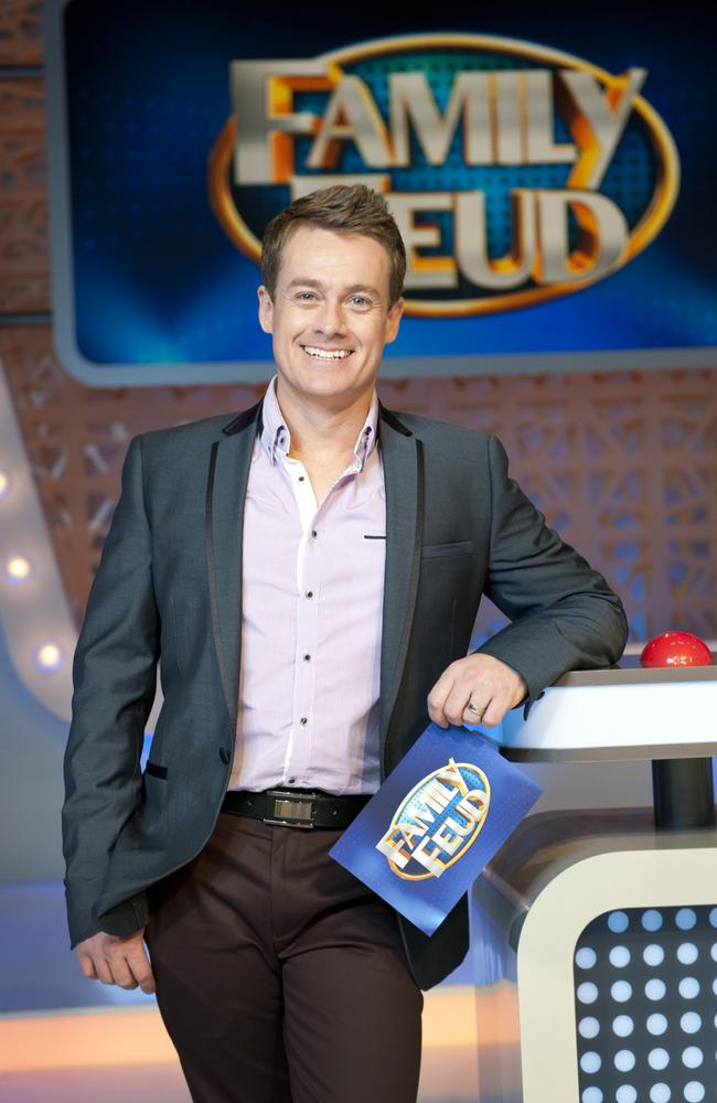 Switched channels ... Grant Denyer hosts Family Feud on Channel 10.