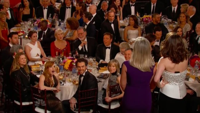 Jessica Chastain (bottom left) was shocked by the jokes.