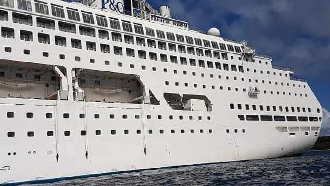 P & O Cruise ship Pacific Dawn on it's way back to Brisbane after a woman went overboard off the coast of New Caledonia. Source: Supplied