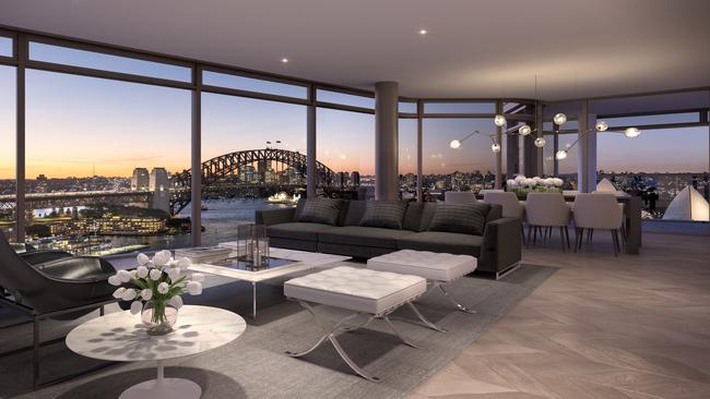 Other apartments in the complex will also offer impressive views, as seen in this artist's impression.