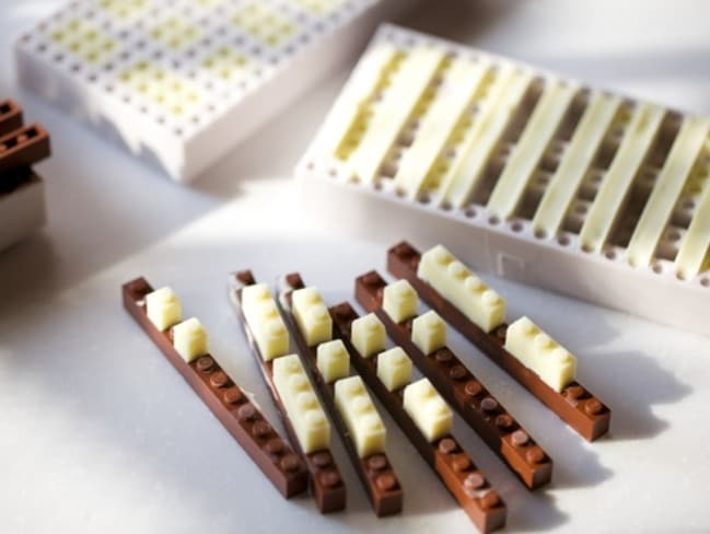 The edible LEGO is hours of calorific fun. Picture: Akihiro Mizuuchi/Behance