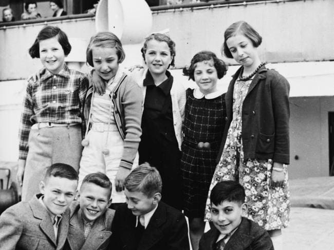 A group of refugee children pictured on the MS St Louis. Among those pictured, Walter and Herbert Karliner (both bottom left) went on to survive the war, but lost their entire family at Auchwitz. Picture: United States Holocaust Memorial Museum, courtesy of Don Altman