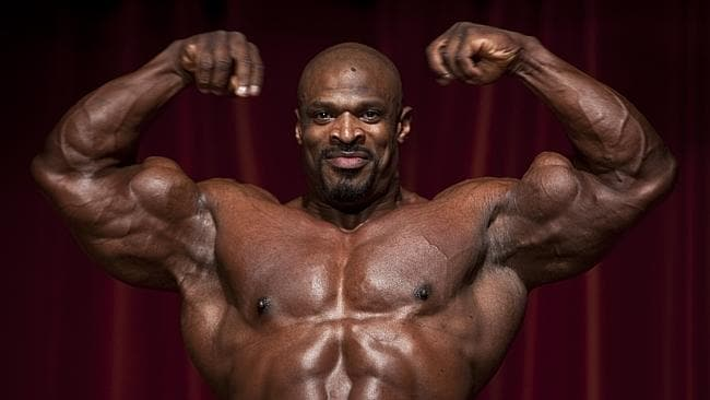 Ronnie Coleman: his beefcake brings all the bodybuilding enthusiasts to the yard. Picture: JJ Sassine.