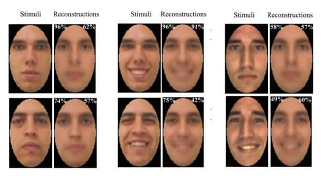This image shows the stimuli shown to the subject (left) and the final reconstructed version based on EEG (right). Source: University of Toronto Scarborough