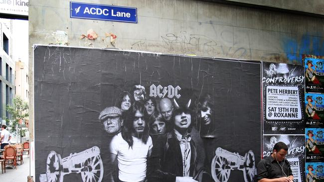 Melbourne's long history with AC/DC was cemented with AC/DC Lane.