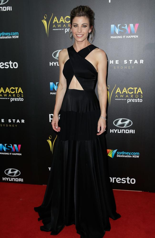 Brooke Satchwell arrives ahead of the 5th AACTA Awards Presented by Presto at The Star on December 9, 2015 in Sydney, Australia. Picture: Getty
