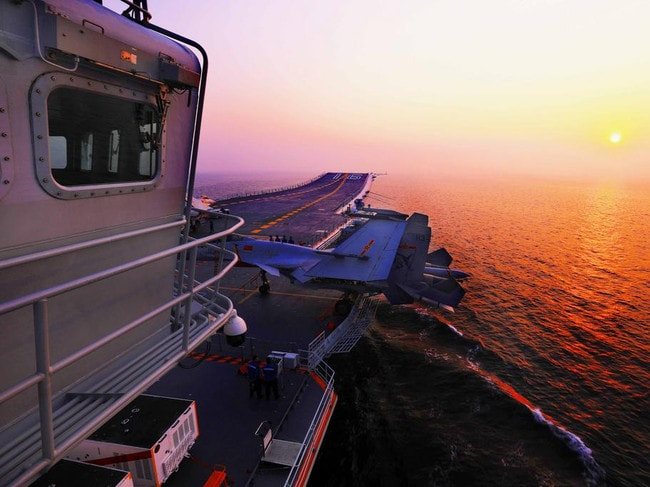 """A view from the control tower of China's aircraft carrier Liaoning.  <a capiid=""""4cd1a8293a54bcbcd3a3c39d5a8c605f"""" class=""""capi-video"""">China has won the South China Sea</a>"""