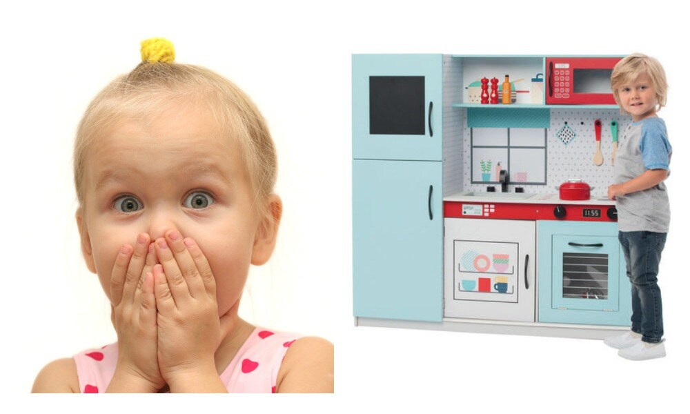 Mum transforms $89 Kmart kitchen into a little chef's paradise