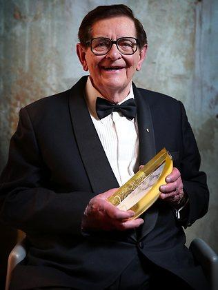 Bill Collins recipient of the Lifetime Achievement Award at the 11th Annual ASTRA Awards held at The Sydney Theatre in Walsh Bay. Picture: Dobson Richard
