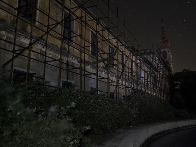 Silence is deafening ... the mental asylum at night on Poveglia Island. Picture: Ella Pellegrini