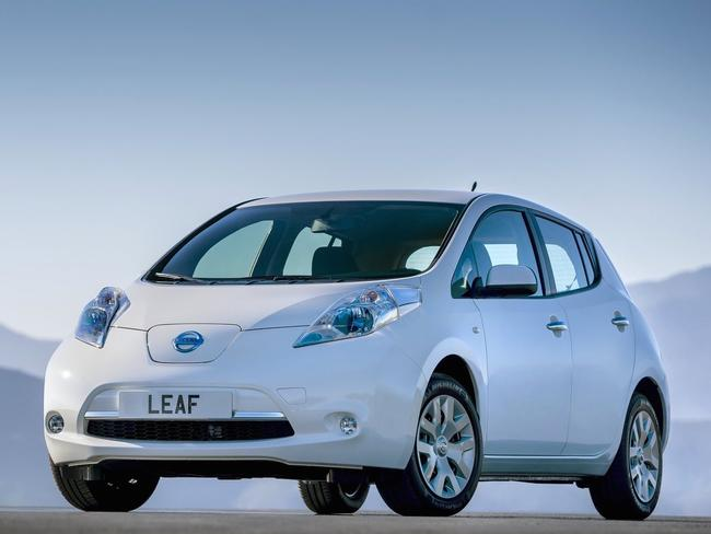 Turning over a new leaf ... the Leaf is the company's big hope in the electric car market segment. Picture: Supplied