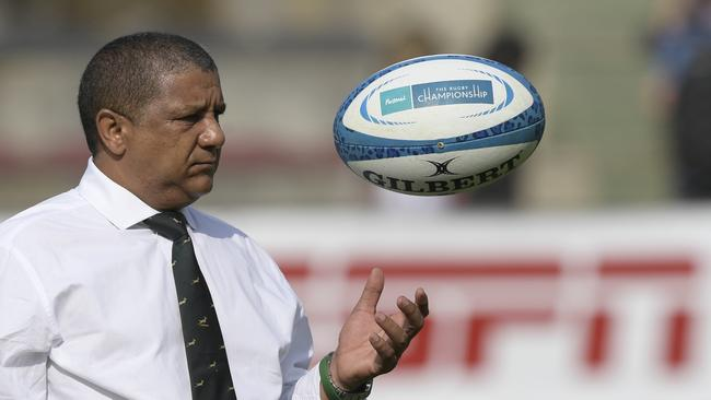 Springboks coach Allister Coetzee before the start of their match against Argentina in Salta.