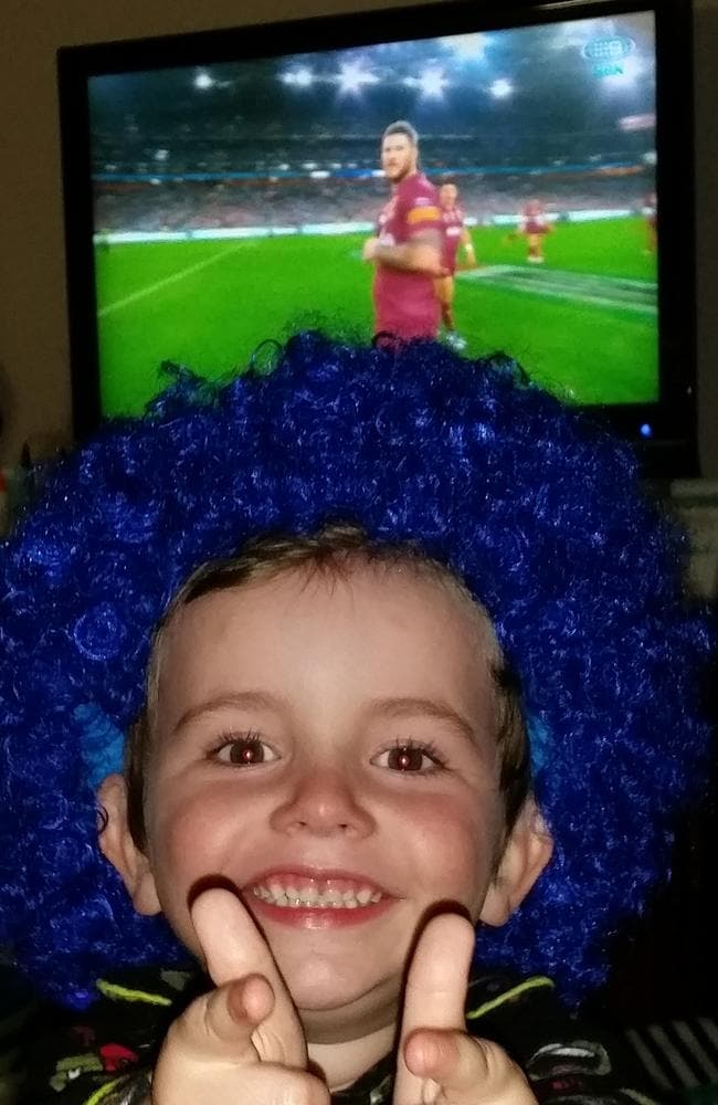 Show of support ... Corben shows his colours.