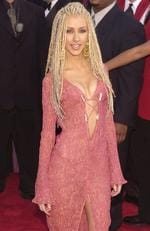 Christina Aguilera tries out the cornrows look. It didn't work. Picture: Chris Weeks/Liaison