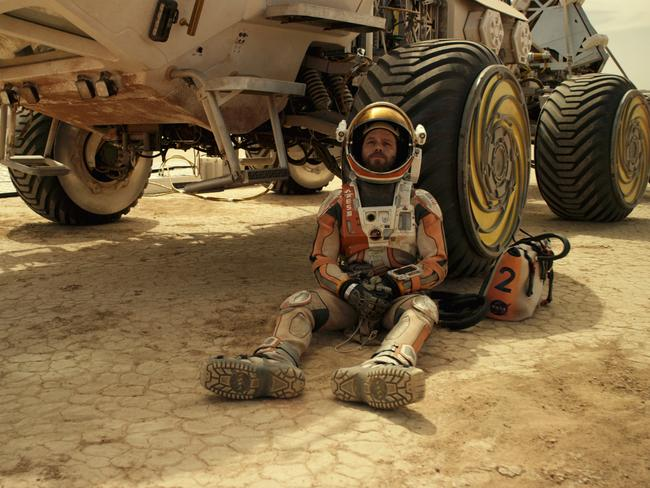 A long way from home ... Damon contemplates survival in The Martian. Fox films