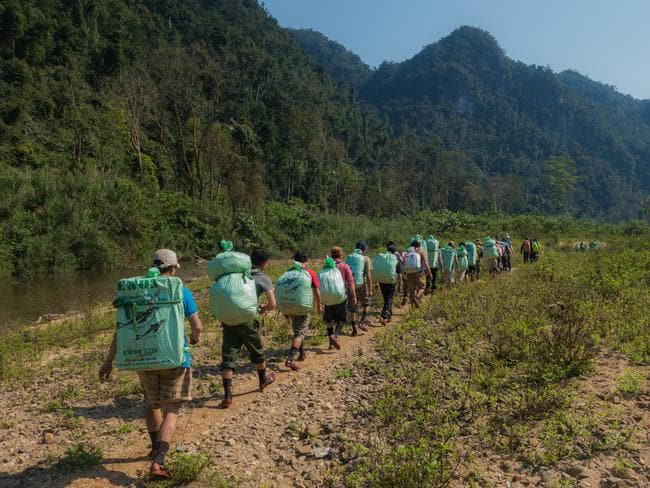 Porters leading the way. Picture: Alesha Bradford.