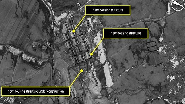 Satelite images released in December show new housing being recently added or under construction. Picture: Amnesty International