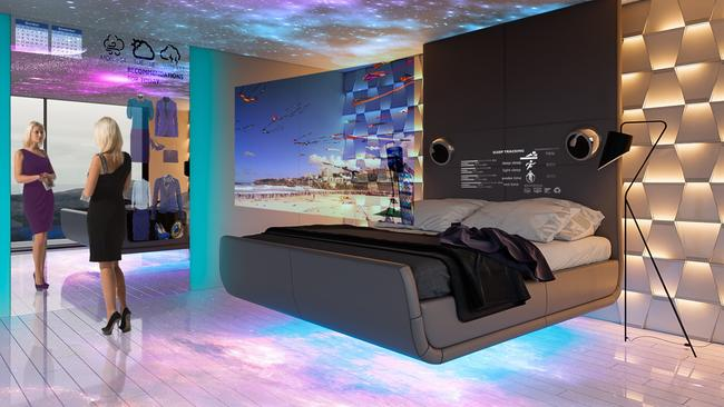 In the future, try on various outfits without really trying them on with this 'smart mirror' and virtual closet. Picture: Property Buyer Expo.
