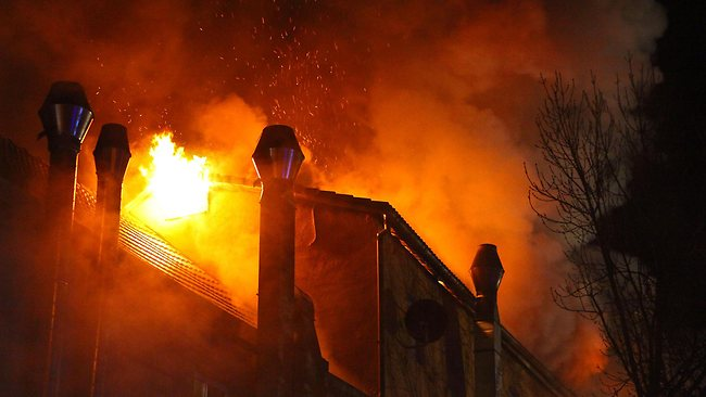 Authorities were alerted to the blaze in Backnang, a town near Stuttgart, about 430am local time. Picture: AP