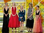 Shailene Woodley, Nicole Kidman, Reese Witherspoon, Laura Dern, and Zoe Kravitz speak onstage during the 69th Annual Primetime Emmy Awards at Microsoft Theater on September 17, 2017 in Los Angeles, California. Picture: Getty