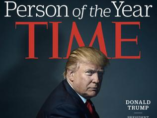 """This image provided by Time magazine, shows the cover of the magazine's Person of the Year edition with President-elect Donald Trump in New York. Time editor Nancy Gibbs said the publication's choice was a """"straightforward"""" choice of the person who has had the greatest influence on events """"for better or worse."""" (Nadav Kander for Time Magazine via AP)"""