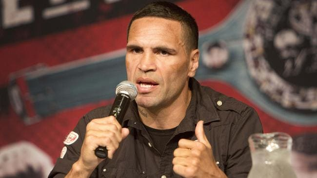 Anthony Mundine at a press conference to announce his fight against Belarussian Sergey Rabchenko.