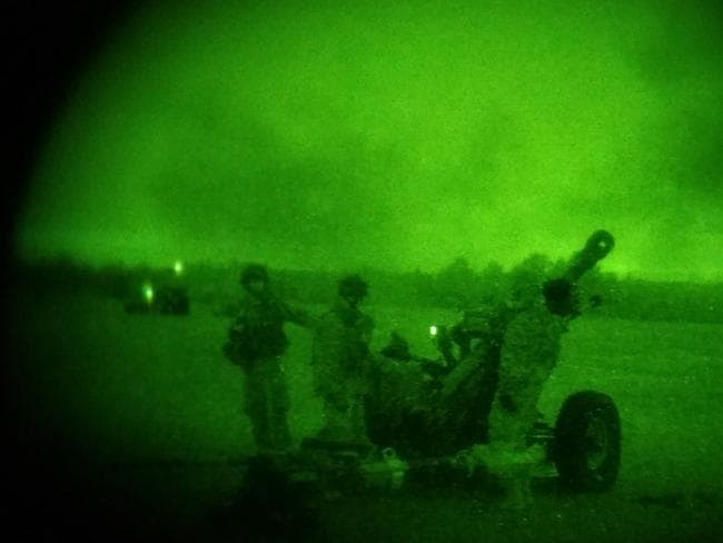 US soldiers at work during the Nevada military drill. Picture: US Army