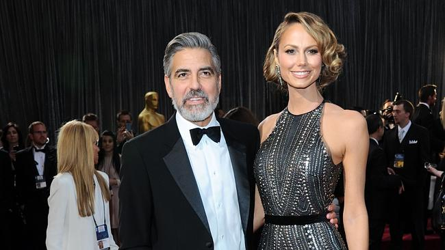 Clooney has had a string of stunning girlfriends in the past but has never settled down. Picture: Splash