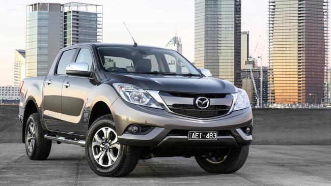 The Mazda BT-50 shares much of its mechanicals with the Ford Ranger, but buyers aren't embracing it in the same numbers. Picture: Supplied