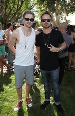 Actors Chord Overstreet and Aaron Paul attend The Hyde Away, hosted by Republic Records. Picture: Jonathan Leibson/Getty Images for Republic Records/UMG)
