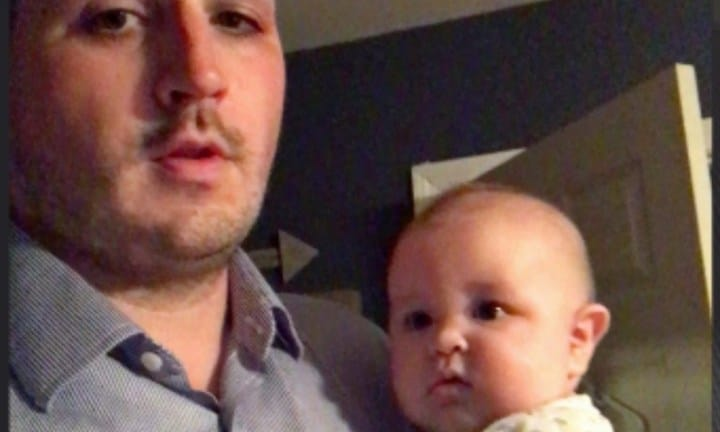 Dad's simple baby sleep hack goes viral