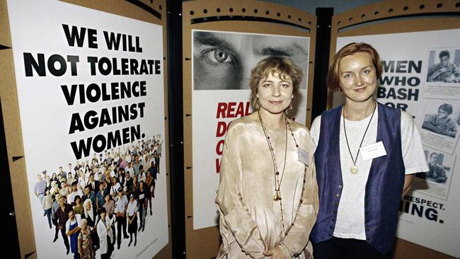 The launch of a campaign raising awareness of violence against women, November 1993. Picture: National Archives of Australia