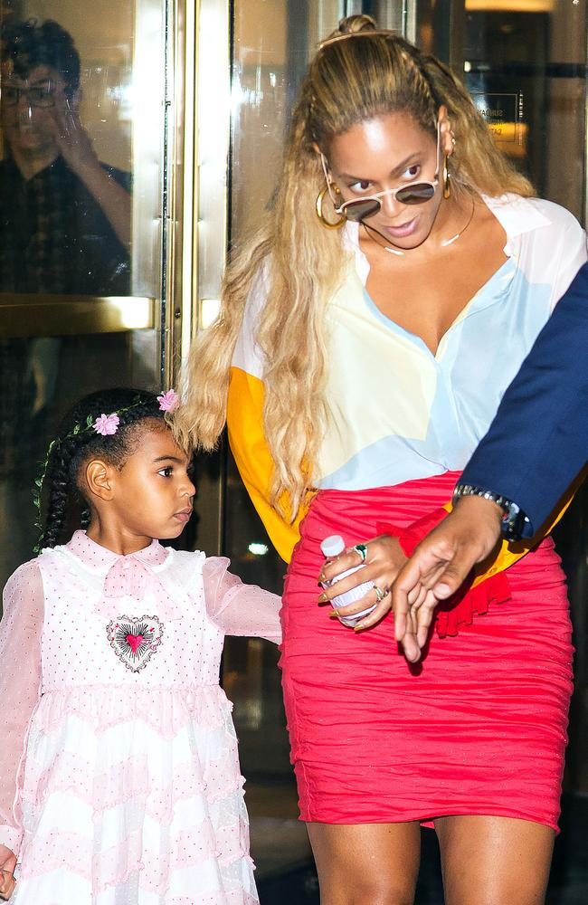 Blue Ivy and Beyoncé. Picture: Splash