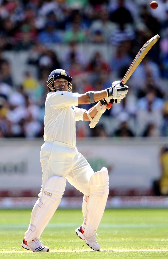 Sachin Tendulkar shows the kind of form that earned him 15,921 runs in 200 Tests for India.