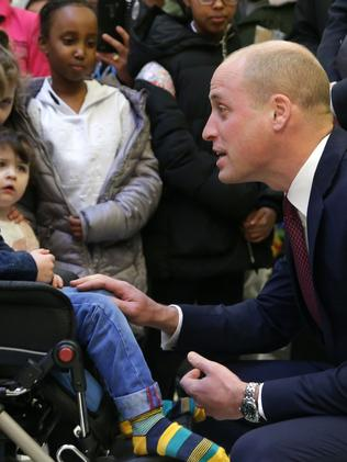 William was launching a new program. Credit: AFP Photo/Pool/Daniel Leal-Olivas