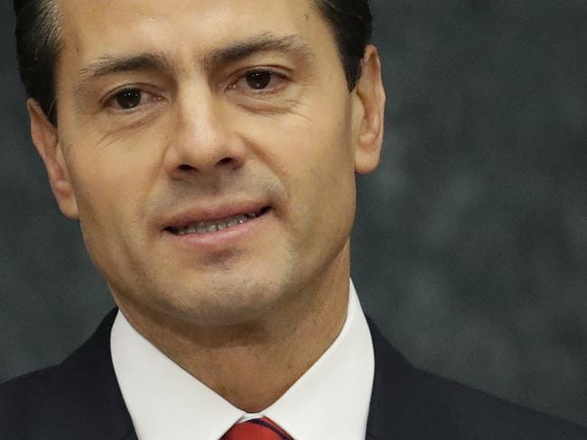 President Enrique Pena Nieto in an address on Mexican TV. He told viewers he had spoken with Trump to congratulate him and his family, and they had agreed to meet during the transition period to discuss the US-Mexico relationship. Picture: AP Photo/Rebecca Blackwell