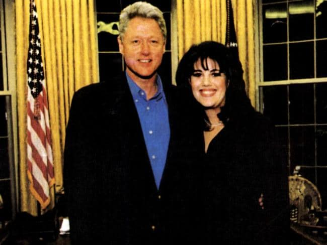 Affair ... USA politician President Bill Clinton (l) with former White House intern Monica Lewinsky.