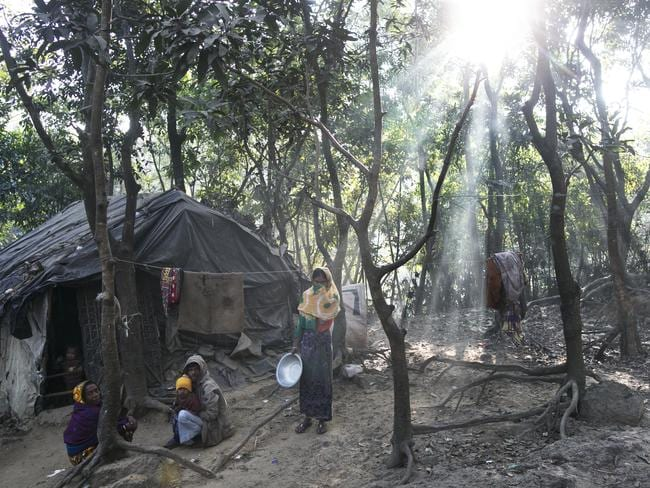 Waves of Rohingya civilians have since fled Myanmar, most living in makeshift camps and refugee centres. Picture: Allison Joyce/Getty Images